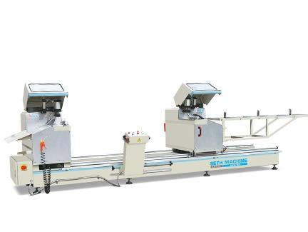 青岛铝塑型材高效 45°双头切割锯